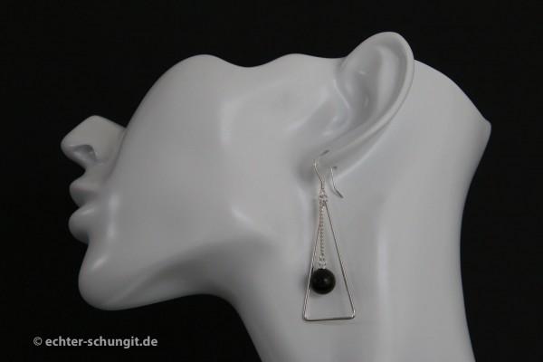 Schungit Ohrringe echter Schungit silber