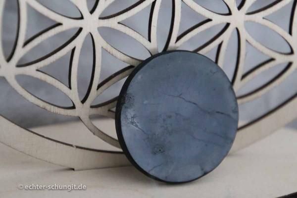 Schungit Platte Plättchen 5cm rund